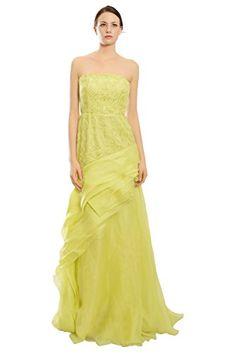 J Mendel Embroidered Strapless Citron Organza Evening Gown Dress J Mendel http://www.amazon.com/dp/B00KLFM5SE/ref=cm_sw_r_pi_dp_1NNwwb1QDTTVM