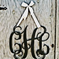 Custom Hanging Monogram Perfect wedding bridal shower engagement party gift $65 Check out Rustic Metal Designs on Facebook
