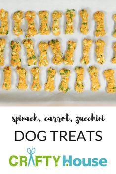 Homemade Spinach, Carrot & Zucchini Dog Treats