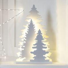Aspen Forest Silhouette Christmas Window Light
