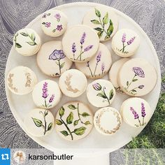 Yay for new friends and pretty cookies!  What a great way to start the week!! - - - #Repost @karsonbutler with @repostapp.・・・Exciting day in the #kbeeast design studio with @dragonflyevent! Presenting ideas for a French-inspired wedding! How beautiful are these hand-painted @bttrcrmbakeshop treats?!