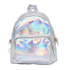 4602c50dc1 HOLOGRAPHIC MINI BACKPACK. Cute BackpacksGirl BackpacksSchool ...