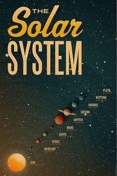Solar System x - Vintage Poster - Retro Art Print Nasa, Solar System Poster, Vintage Space, Space And Astronomy, Space Planets, Sistema Solar, Art Graphique, Space Travel, Space Exploration