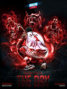 403bfc87b7cb Derrick Rose NBA posters by Caroline Blanchet