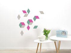wandkleid individuelle wandgestaltung mit wollfilz wandverkleidung muster farben bunt - Taupe Wandgestaltung