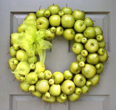 using fake apples!