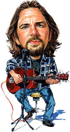 Eddie Vedder ( Pearl Jam ) ...artwork by ExaggerArt http://exagger-art.artistwebsites.com/