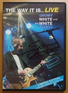 """Snowy White - CD/DVD - The Way It Is...Live!Limited Edition - UK 2005.  Extra's Photo and Ticket  Snowy White & The White Flames - The Way It Is... LiveCountry of Origin: UKFormat: DVD  CDRecord Label: VoiceprintCatalogue #: VPDVD12Year of Release: 2005Time: 80:56Info: Terence Charles """"Snowy"""" White The Way It Is...Live! # VPDVD12 is a concert film by Snowy White widely considered known for having played with PINK FLOYD and one of the U.K.'s top blues-rock guitarists released in 2005. During…"""