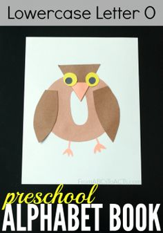 Letter O crafts for preschoolers! This adorable little owl is perfect for learning all about the letter O!