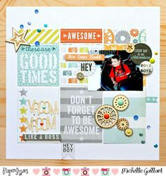 Vroom Vroom scrapbook layout by Michelle Gallant