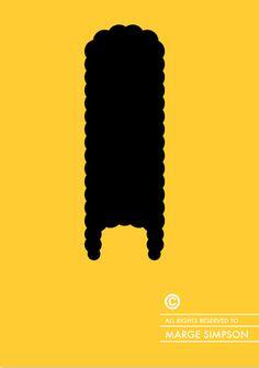 Minimalismo e cultura pop nelle illustrazioni di Patricia Povoa - Marge Simpson