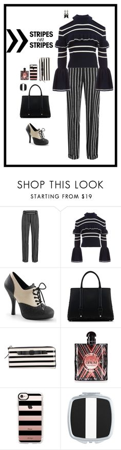 """""""Stripes"""" by shalaho ❤ liked on Polyvore featuring Haider Ackermann, self-portrait, Pinup Couture, La Perla, Bochic, Kate Spade, Yves Saint Laurent, Casetify, stripesonstripes and PatternChallenge"""