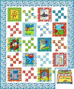 The Lorax - Speak for the Trees Organic Quilt Kit Bright - Dr. Seuss