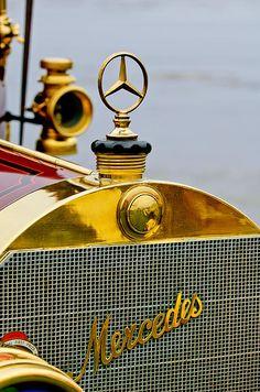 1911 Mercedes 50 Hp Maythorn Tourer Hood Ornament by Jill Reger car