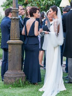 Love candid photos such as this one Wedding Dresses 2018, Bridal Dresses, Bridesmaid Dresses, Andrea Casiraghi, Charlotte Casiraghi, Wedding Beauty, Dream Wedding, Albert Von Monaco, Vintage Bridal