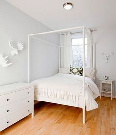 Himmelbett ikea edland  ikea edland canopy bed - two twins | girly harry potter room ...