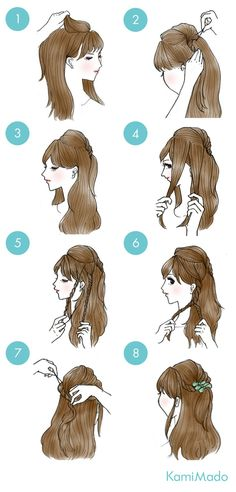 Super easy Japanese hairstyle