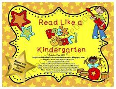Read Like a Rock Star!  (Common Core Based for Kindergarten) product from TeacherTam on TeachersNotebook.com