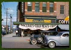 The Eagle Fruit Store and Capital Hotel in Lincoln in 1942. (John Vachon/Library of Congress/Courtesy of Taschen)   Seldom-seen photos show what America looked like in the 1940s…in color - The Washington Post
