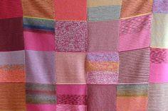 Mariamélia - Manta de lã - Rosa, violeta