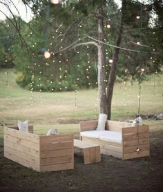 Home and Delicious: homemade garden furniture