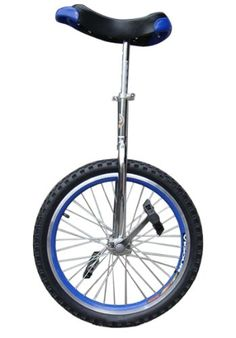 Unicycles - Fantasycart 24 Unicycle Cycling In  Out Door Chrome Blue with skidproof tire * Details can be found by clicking on the image.