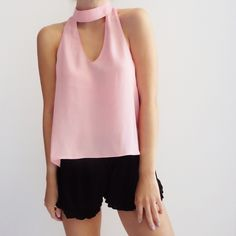 • Rosie Choker Neck Top Stylish choker neck top in beautiful rose pink color…