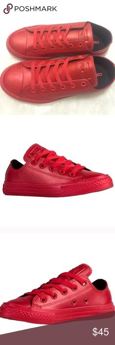 Converse low top red All star shoes new womens Brand new without box. Shoes are a juniors size 3.5 which is a women's size 5.5. Ships same day Converse Shoes Sneakers