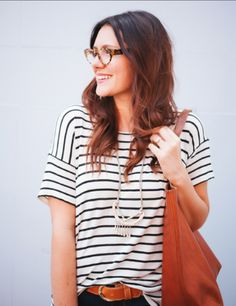 Simple Stripes and Brown Leather | 15 Fall Looks to Try | frivolousfringe