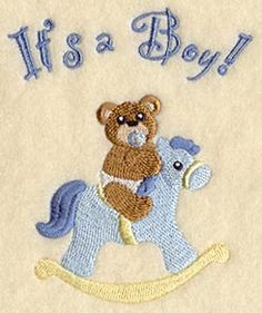 It's a Boy Teddy Bear design (C2252) from www.Emblibrary.com