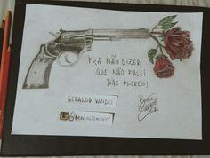 Ilustraçao da musica de Geraldo Vandré - Pra Nao Dizer Que Nao Falei Das Flores.