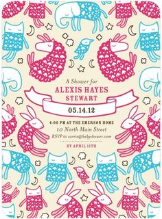 Baby Shower Invitations Dreamy Sleepers - Front : Begonia