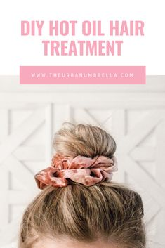 Have dry damaged hair? Click here to find out how to get your hair healthy naturally with this DIY Hot Coconut Oil Hair Treatment!