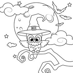 Halloween Coloring Pages for kids                                                                                                                                                                                 More