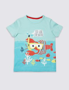 Pure Cotton Embroidered T-Shirt (3 Months - 5 Years)