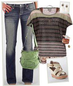 This entire outfit from shirt to shoes, including accessories rocks!  Can't wait to go shopping!