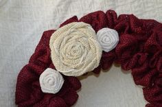 Burlap Flowers by EmaCreates - Etsy