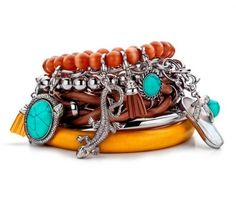 Charming by Ti Sento: several bracelets with charms