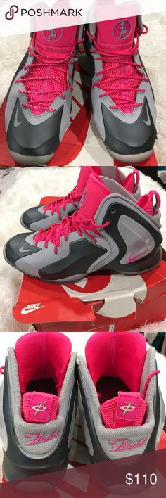 Nike Nike lil penny posite size 11.5  wolf grey hyper pink Nike Shoes Sneakers