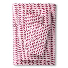 Herringbone Sheet Set Raspberry (Queen) - Sabrina Soto