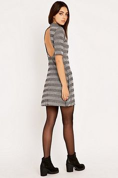 Urban Outfitters Striped Turtleneck Dress