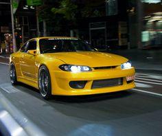 Nissan S15, Silvia S15, Classic Japanese Cars, Nissan Silvia, Jdm Cars, Dream Cars, Yellow, Awesome, Ideas