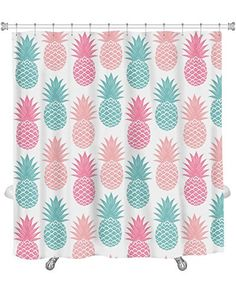 gear new shower curtain image of vintage pineapple gn81 http