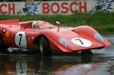 The Ferrari 312 P of Chris Amon and Pedro Rodriguez at the 1000 km Race 1969