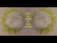 In this video I will be showing you how to make a rose on the wreath. I didnt start this video off with doing the leaves becau. Wreath Crafts, Diy Wreath, Flag Wreath, Wreath Ideas, Diy Flowers, Flower Decorations, Holiday Burlap Wreath, Mesh Wreath Tutorial, Coffee Filter Flowers