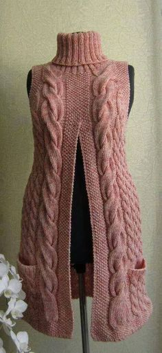 Crochet sweater vest pattern ideas for 2019 Crochet Cardigan Pattern, Vest Pattern, Crochet Shawl, Knit Crochet, Knitting Patterns, Crochet Patterns, Crochet Style, Jumpsuit Pattern, Knitting Projects