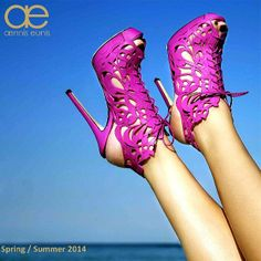 #aenniseunis . SS14 collection #hotpink #platformshoes