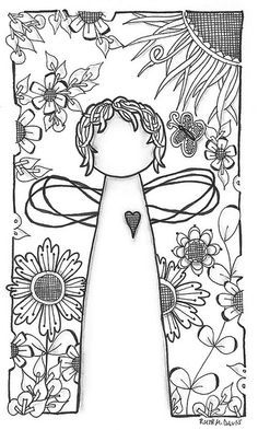Pattern sheet for zentangle Colouring Pages, Adult Coloring Pages, Coloring Books, Doodle Drawings, Doodle Art, Tangle Doodle, Pintura Country, Doodles Zentangles, Angel Art