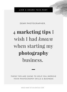 4 Marketing Tips I Wish I Knew When I Started