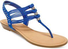 Madden Girl Thrill T-Strap Flat Thong Sandals
